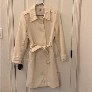 Old Navy White Trenchcoat